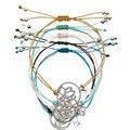 5 pcs/lot Wholesale Yoga Rope Bracelet Lotus Zircon Yoga Buddha Braided Rope Wristband Bracelets Jewelry Chakra Pulseras mujer