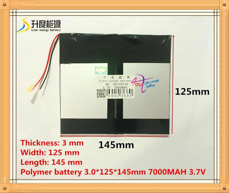 The tablet battery 3.7V 7000mAH 30125145 Polymer lithium ion / Li-ion battery for tablet pc battery