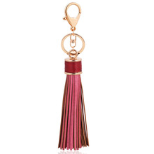 Long Pu Leathers Tassel Keychain Leather Alloy Trinket Car Key chain Gift Women Bag Charms Key ring Key accessories L34 2019 oriange new fashion key chain accessories tassel key ring pu leather bear pattern car keychain jewelry bag charm women gift