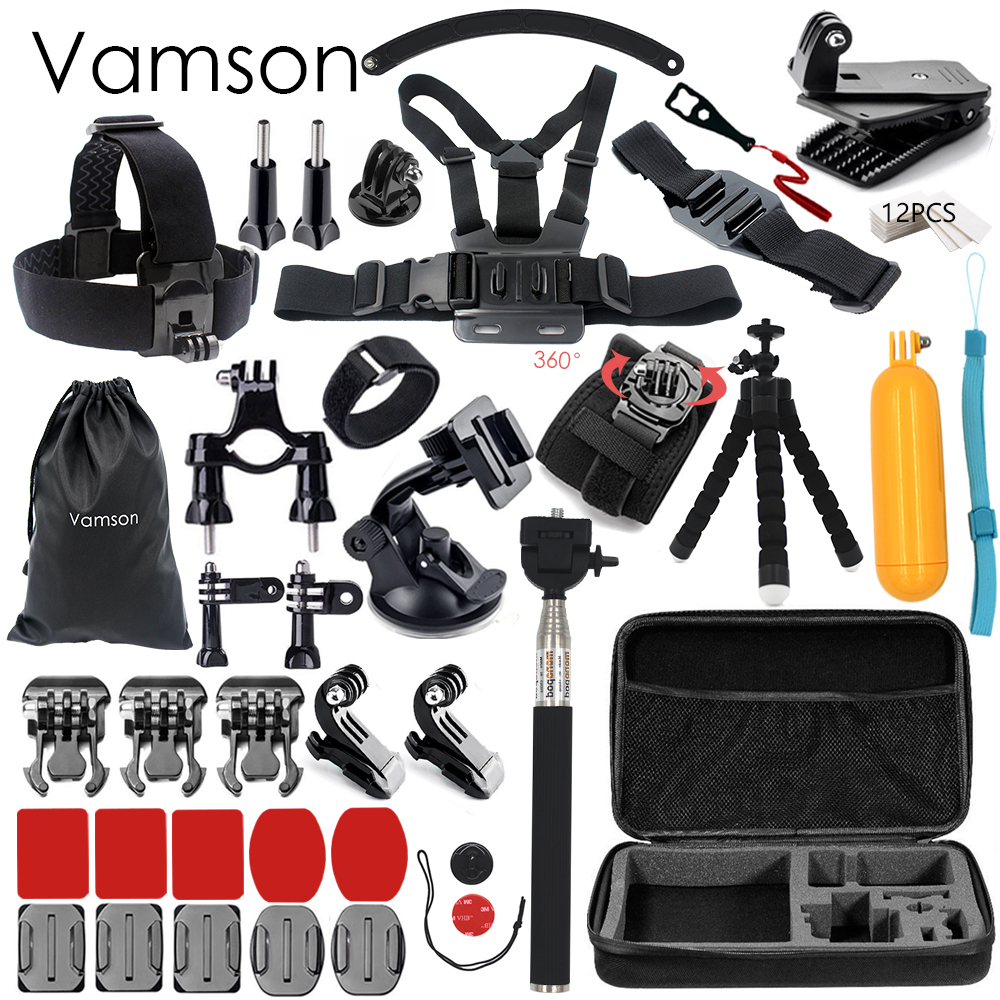 Vamson for Gopro Hero 5 Accessories Selfie Monopod Stick Octopus Tripod For Gopro 5 4 3+ Xiaomi Yi 4K Yi2  Eken H9R SJCAM  VS25