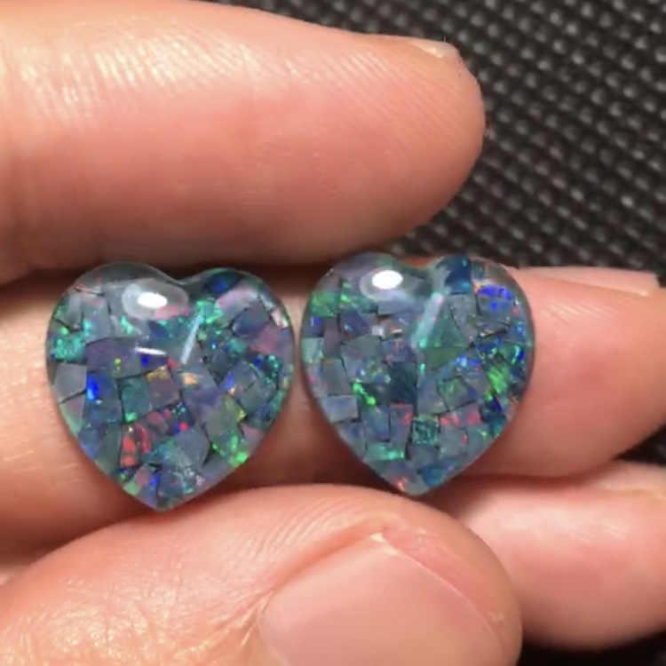 Combined Opal 12.675ct carat Natural Opal Australia Origin Heart Cut Loose Gemstones Loose Stones Loose Gems For Jewelry Making