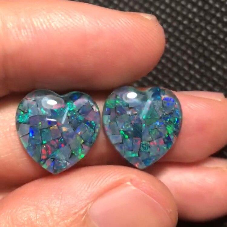 Opale combinée 12.675ct carat opale naturelle australie origine coeur coupé pierres précieuses en vrac pierres précieuses en vrac pour la fabrication de bijoux