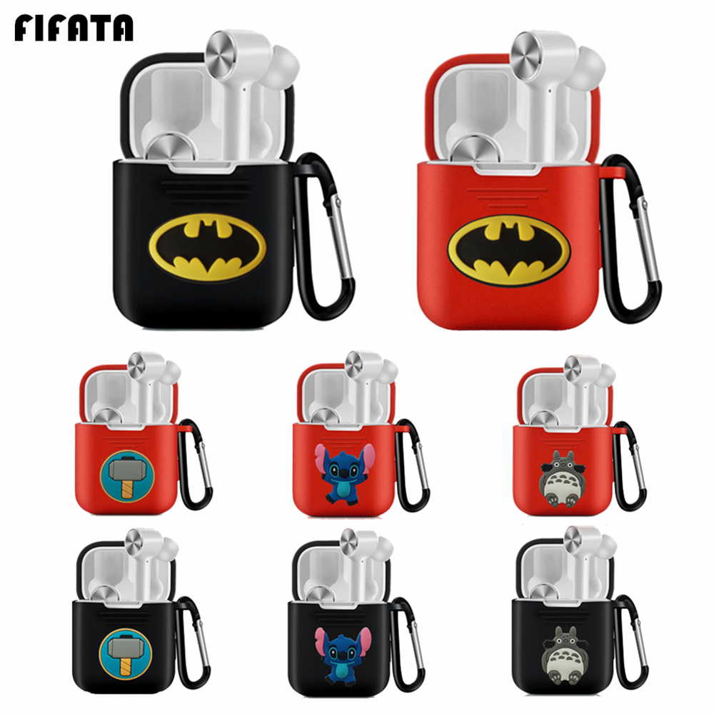 For Airdots Pro Case Silicone TPU Protective Shell For Xiaomi Mi Air Dots Pro TWS Cover Marvel Cute Headset Pouch Accessories