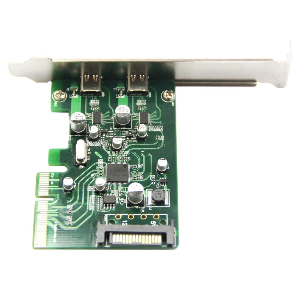 2 պորտ USB 3.1 Type-C PCI Express Card + PCIe ցածր - Համակարգչային բաղադրիչներ - Լուսանկար 5