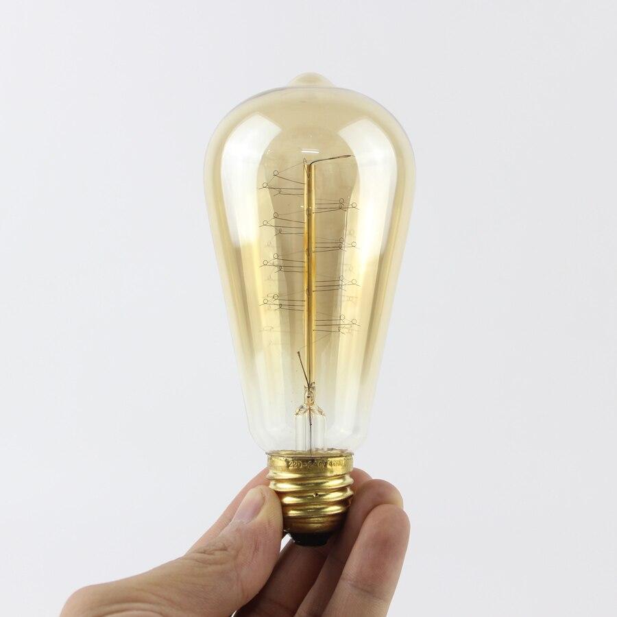 E27 ST64 Wrap Draht Edison Glühlampen Lampe 40WAC 110 V/220 V Für ...