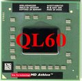 Lifetime warranty Athlon 64 X2 QL60 1.9GHz Dual Core AMQL60 Notebook processors Laptop CPU Socket S1 638 pin Computer Original