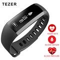Orijinal TEZER R5 PRO Akıllı bilek Bandı Kalp Hızı Kan Basıncı Oksijen Oksimetre Spor Bilezik Izle akıllı iOS Android Için