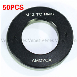 50PCS Lens Adapter Suit For RMS Royal Microscopy Society Lens to M42 Mount For RMS(25mm)