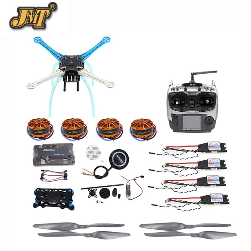 JMT APM2.8 bricolage GPS Drone 500mm multi-rotor avec moteur 700KV 30A ESC 9CH transmetteur pas de chargeur de batterieJMT APM2.8 bricolage GPS Drone 500mm multi-rotor avec moteur 700KV 30A ESC 9CH transmetteur pas de chargeur de batterie