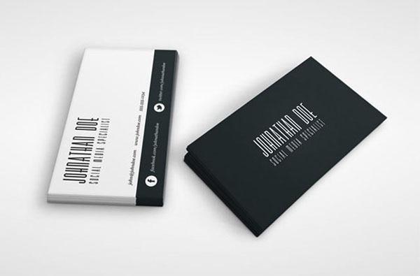 Gros Conception Simple 2 Face Impression Personnalise De Cartes Visite Haut Gamme Art Papier