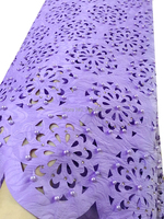 Lilac african lace fabric high quality handcut with beaded ,laser fabric white gold green wedding lace fabric for aso ebi