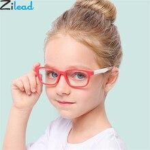 Zilead новая детская невыпадающая Соска-синий светильник силиконовые очки Брендовые мягкие рамки плотная очки для глаз известность Eywear Мода