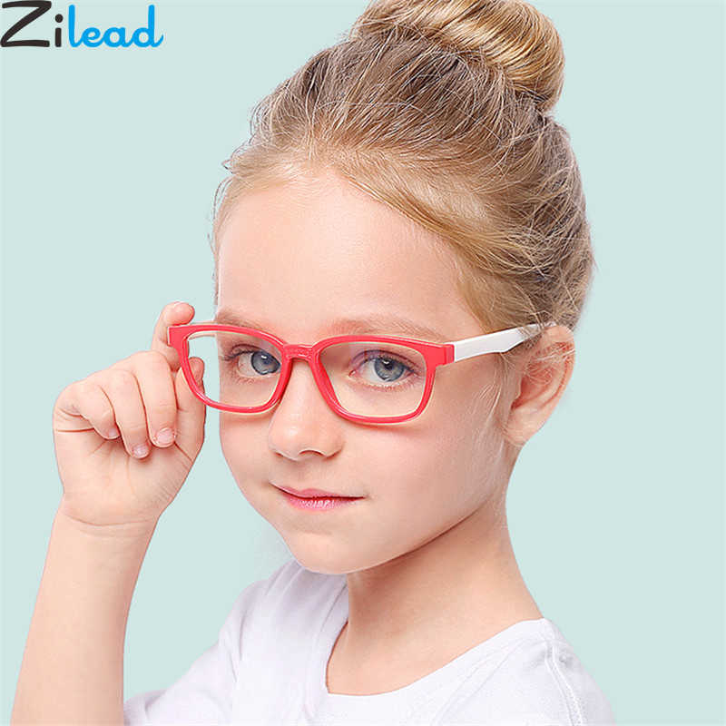 Zilead 2018New Baby Anti-blue Light Silicone Glasses Brand Children Soft Frame Goggle Plain Glasses Kids Eye Fame Eywear Fashion