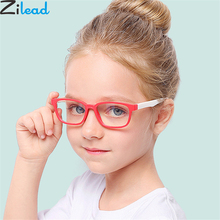 Zilead New Baby Anti-blue Light Silicone Glasses Brand Children Soft Frame Goggle Plain Kids Eye Fame Eywear Fashion