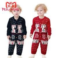 Christmas Newborn Baby Warm Romper Rompers Babies Cute Knitting Boys Playsuit Knit Winter Deer Girls Baby Outfit Cartoon