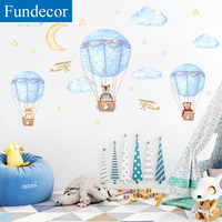 [Fundecor] DIY Мультяшные животные воздушный шар наклейки на стены для детской комнаты детская спальня Наклейки на стены самоклеящиеся фрески