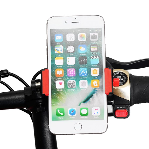 Universal 6.5 Inch MTB Bike Motorcycle Phone Handle Mobile Phone Holder 360 Rotation with Stainless Steel Cradle All Smartphones