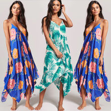 Women Summer Boho Chiffon Party Evening Beach Dress Long Maxi Dress Sundress Evening Party Beach Floral Dress women floral print bohemian maxi dress gypsy wrap maxi dress vintage puff sleeve blossom boho maxi dress spell dress
