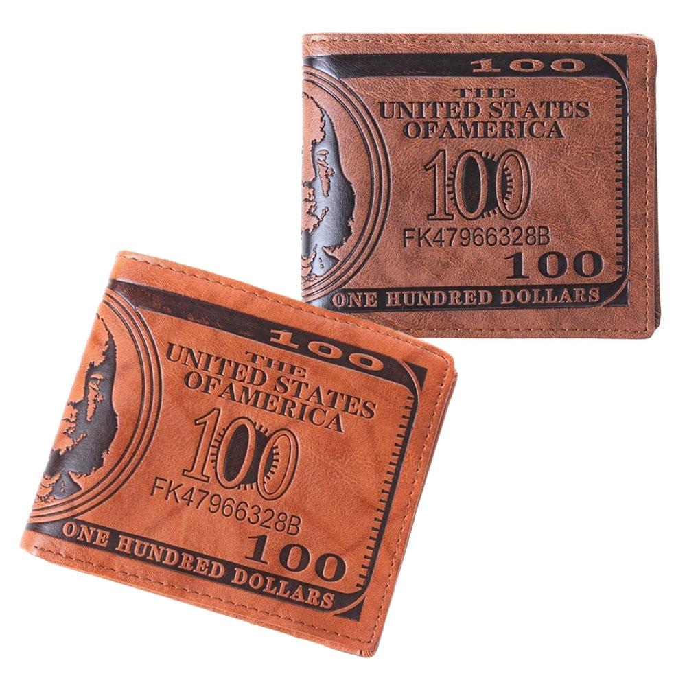 1 StÜck New Fashion Business Männer Dollar Bill Wallet Individualität Pu Dollar Männer Brieftasche Hohe Qualität Mann Geldbörse Lt88 Um Das KöRpergewicht Zu Reduzieren Und Das Leben Zu VerläNgern