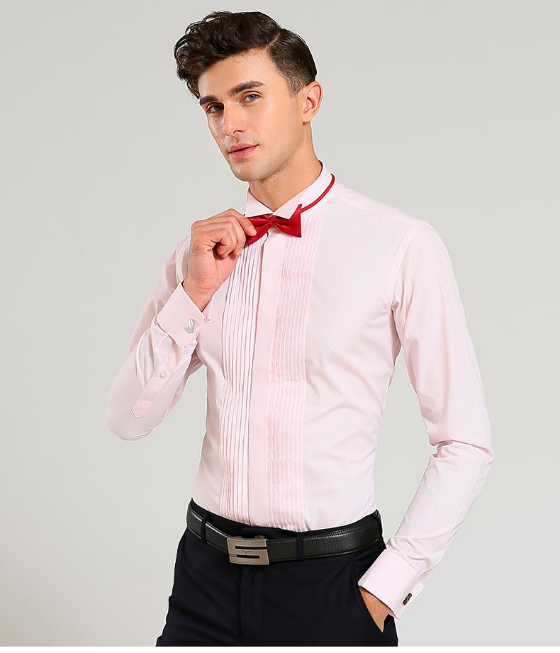 2018 New Popular Men Dress Shirt Wedding Formal Party Long Sleeve ...