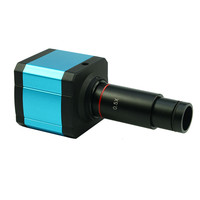 14MP USB Camera HDMI Digital Microscope Camera Electronic Eyepiece Video Microscope with 0.5X C Mount Lens 30 30.5 mm Adapter
