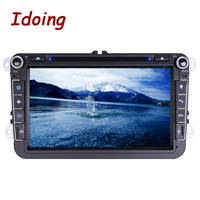 2Din Steering Wheel For VW Polo Golf5 Passat B6 Android5 1DVD Car Multimedia Player Touch Screen