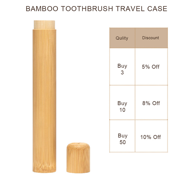Natural Bamboo Tube For Toothbrush Eco Friendly Case Hand made Bamboo Toothbrush Tube Portable Travel Packing