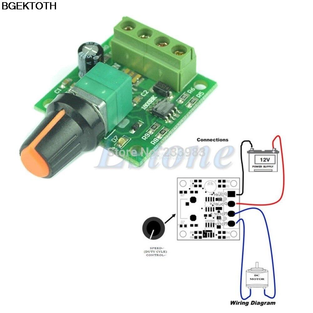 Dc New 1 8v 3v 5v 6v 12v 2a Low Voltage Motor Speed
