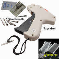 Kiwarm 1Set Clothes Garment Price Label Tagging Tag Guns Machine 1000 Barbs 5 Steel Needles