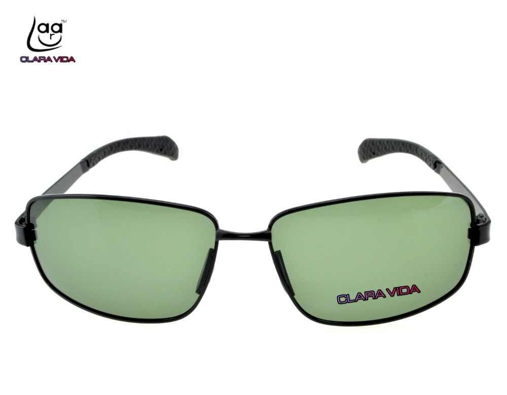 95ebebf7f03 ...  CLARA VIDA Polarized Reading Sunglasses Large black dark green MYOPIA  Polarized customized Sunglasses ...