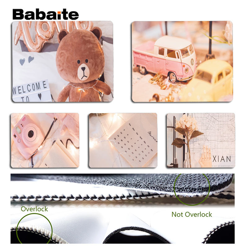 Babaite New Printed Large Mouse pad PC Computer mat Size for 180x220x2mm and 250x290x2mm Small Mousepad