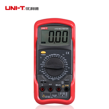 UNI-T UT52 LCD Digital Multimeter AC DC Voltmeter Amp Ohm Capacitance Tester 50ua 500ma dc ac voltmeter ohmmeter ohm amp analog multimeter w probe leads