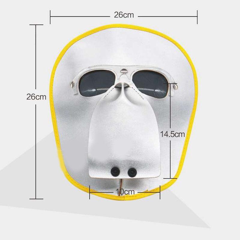 JAISATI Cowhide mask welding head wear argon arc welding anti-glare welding mask labor welder protection