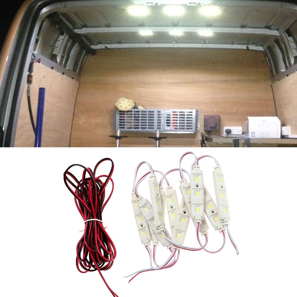 12V 10x3 LED Lamp Auto Roof Lamp Kit for RV Van Sprinter Ducato Car Dome Reading Light LED Modules Light Car Styling