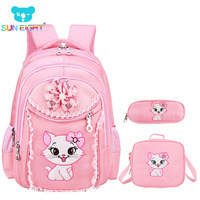Sweet Cat Girl S School Bags Cartoon Pattern Kid Backpack Children School Backpack Girl Bag