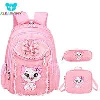 Sweet Cat Girl S School Bags Cartoon Pattern Kid Backpack Children School Backpack Girl Bag