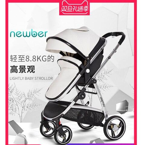 mae gostosa alta paisagem carrinho de bebe pode sentar reclinaveis 2018 novo absorvedor de choque