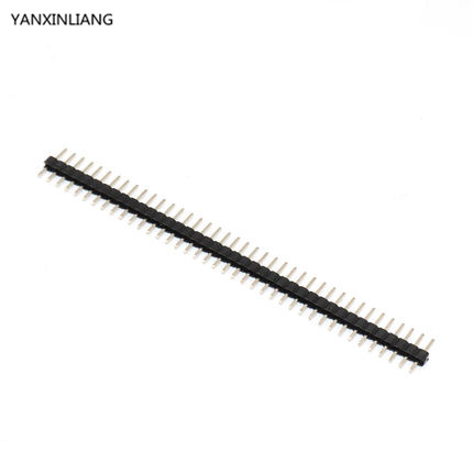 10pcs Pitch 2.0mm 40 Pin 1x40 Single Row Male Breakable Pin Header Connector Strip for Arduino Black
