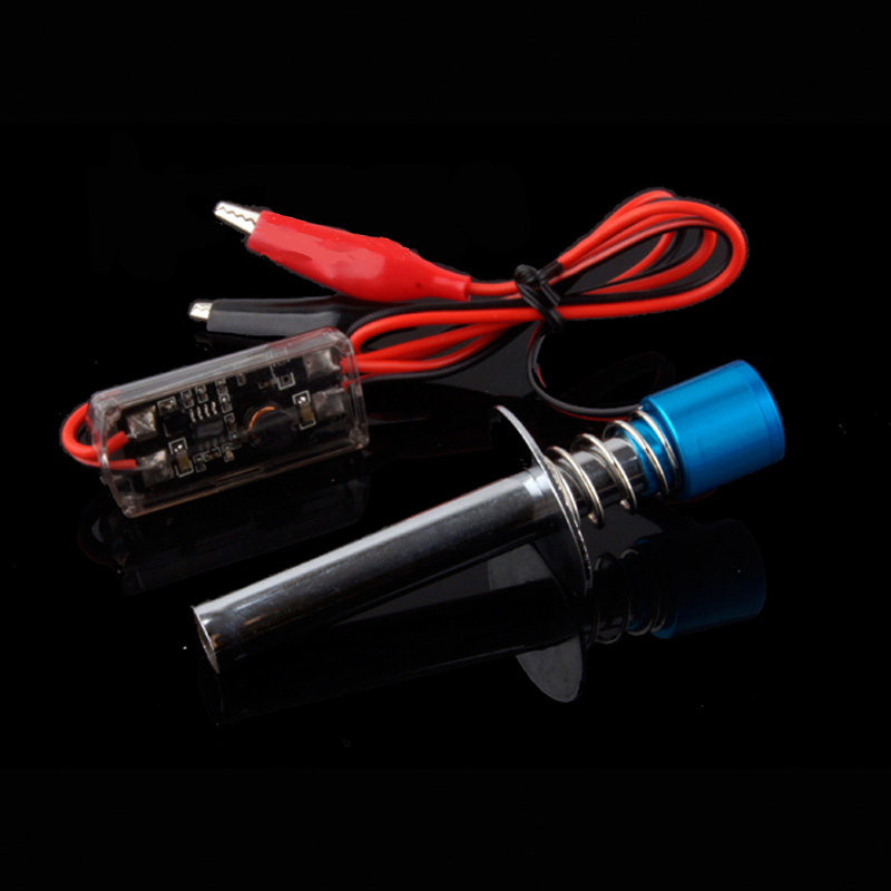 80100 6-12 V Eletrônico Glow Plug Igniter com Clipe Jacaré para 1/10 Nitro Alimentado RC Carro