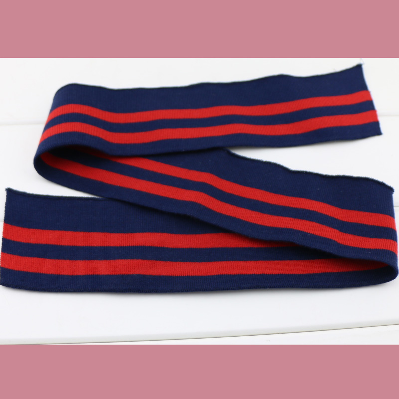2pcs set Spring and Autumn elastic collar cuffs hem bottom collar thread mouth fabric Strip Series cotton knitted fabric in Fabric from Home Garden