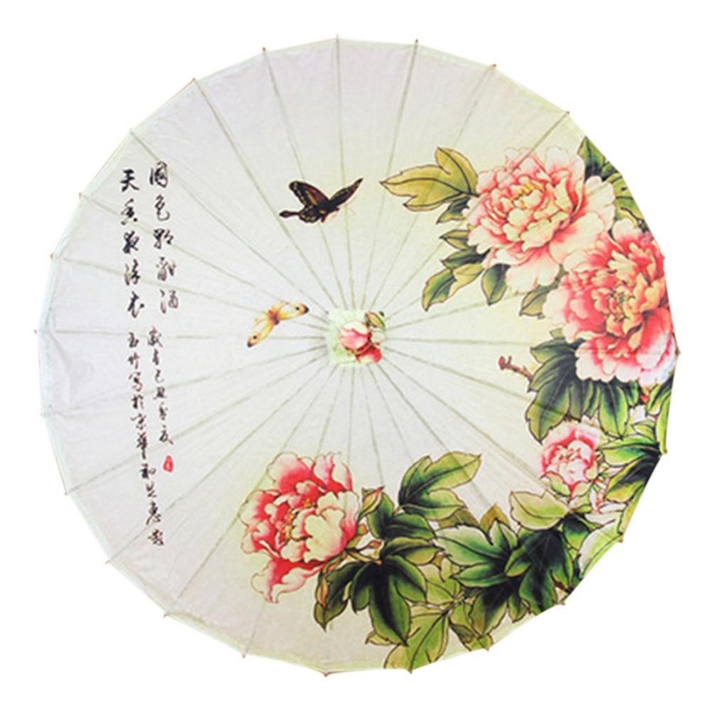 Oilpaper Umbrella Rain Women Handmade Sun Umbrella Bamboo Parasol Japanese Umbrella Women Dance Prop Classical Craft Parasol