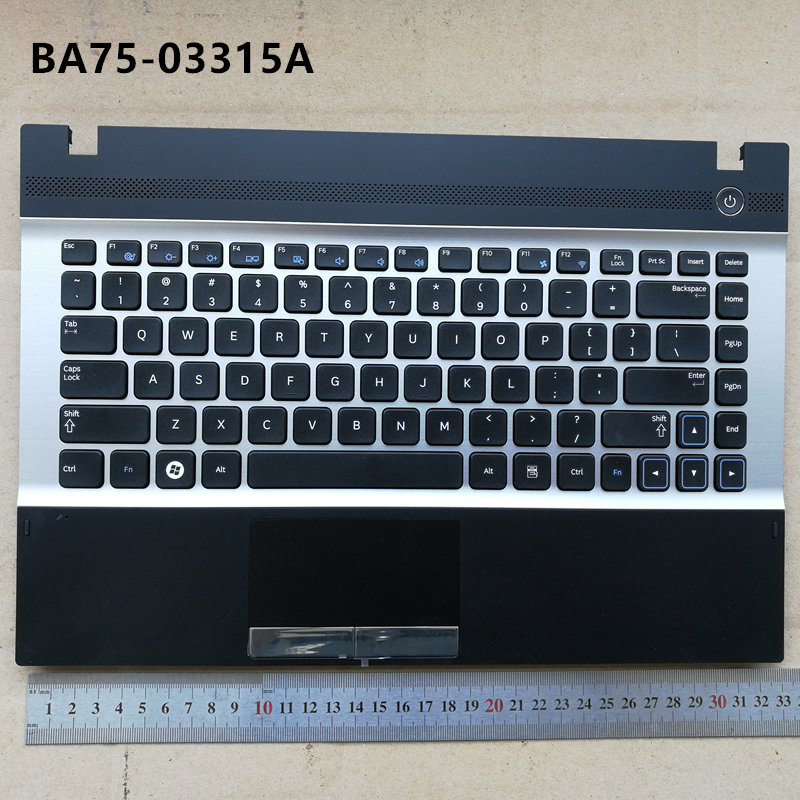 US new laptop keyboard with touchpad palmrest for Samsung NP300 14