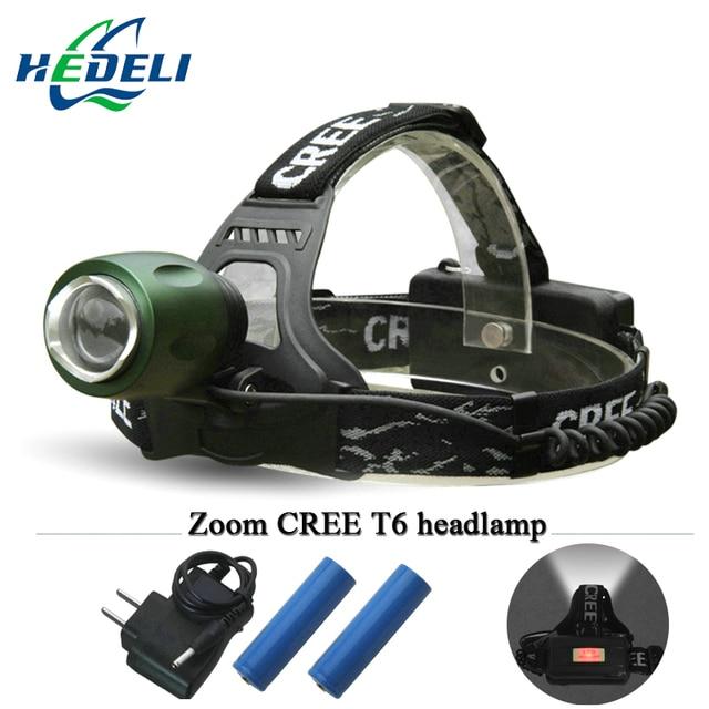 cree headlight led headlamp xml t6 head lamp torch 4 mode 3000 lumens Use 18650 Rechargeable Battery farol frontal bike camping