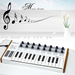 Image 4 - Worlde Mini controlador de batería y teclado, portátil, profesional, 25 teclas, USB, MIDI