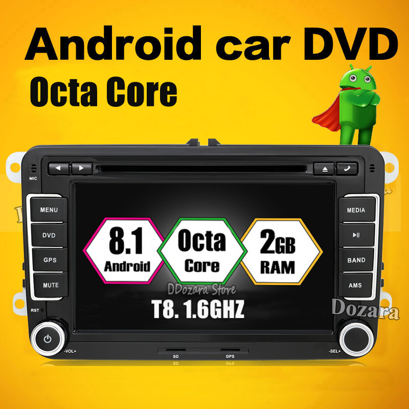 цена на 2G Octa Core Android 8.1 for VW GOLF 5 Golf 6 POLO PASSAT SKODA CC JETTA TIGUAN TOURAN stereo multimedia GPS Radio car dvd gps
