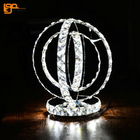 new creative design crystal table lamps modern lighting for living room LED fixtures