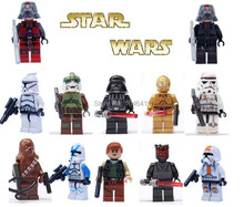 Star Wars captain rex darth maul Minifigure Clone Trooper Sith trooper Darth Vader Chubaka Weapon Building Block action figures