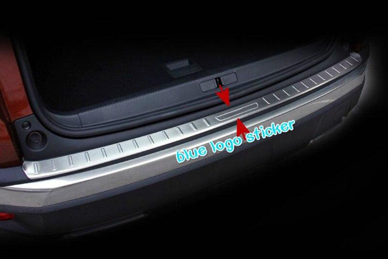 2PCS/set Stainless Car Inner and Outer Bumper Protector Step Panel Trunk Trim FOR PEUGEOT 3008 GT 2016 2017 2018 car styling брызговики передние и задние кроме gt для peugeot 3008 2017