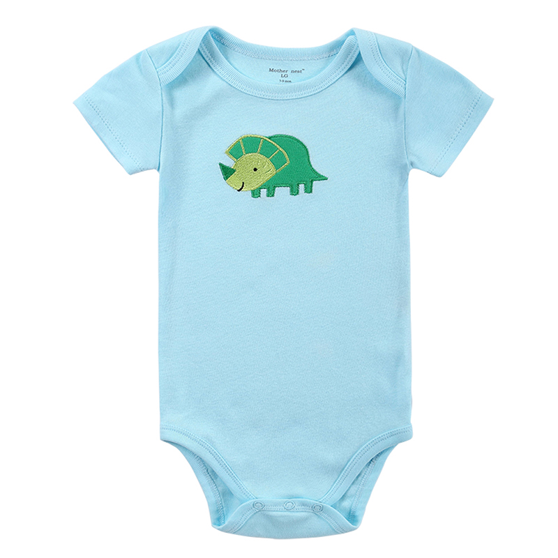 2016 Baby Boys Girls Rompers Short Sleeve Cotton Baby Infant Cartoon Animal Newborn Clothing Rompers Outfits Toddler Kid Clothes baby clothes new hot 100% cotton winter and autumn baby rompers baby clothing boys girls infant newborn kids long sleeve clothes