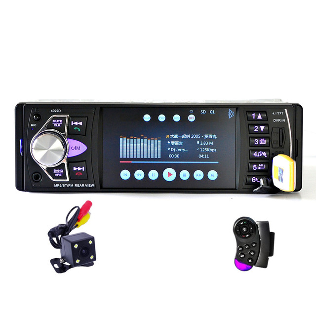 """Fonwoon Universal 4"""" Car Central Multimedia Player 1 Din Car Radio Stereo Bluetooth USB Automotivo DVD Support Rear View Camera"""